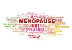 Menopause Symptoms Tags Cloud